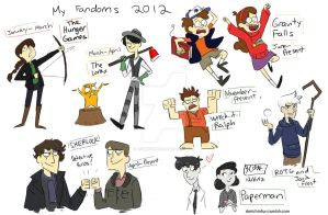 My Fandoms 2012 by animegirl43