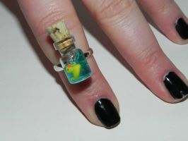 Rubber Ducky Ring, Sesame Street Inspired Rubber D by Secretvixen