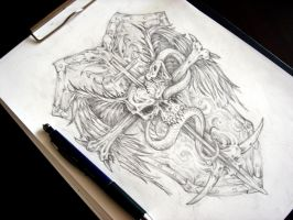 Tattoo design sketch by bobby79