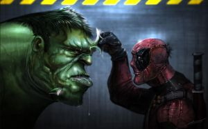 hulk vs deadpool by saadirfan