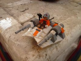 Lego Snowspeeder Microfighter by 4ellyK