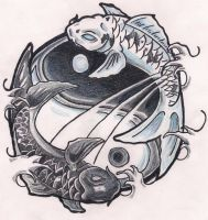 Koi Ying Yang by poeticXtragedy65