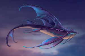 Sky whale: night by Sedeptra