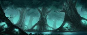 Fantasy forest by willroberts04