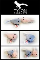Blue and Pink Tadpole Plushies by Tylon