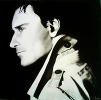 Charcoal - Michael Fassbender by Brainiac6Techgirl