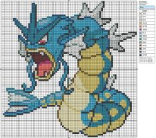 130 - Gyrados by Makibird-Stitching
