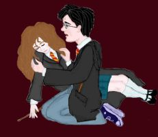 Panic for Hermione by esicardi