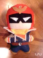 Chibi Plushies: Captain Falcon by Red-Flare