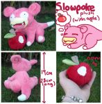Slowpoke plush (with apple) for sugarstitch by SilkenCat