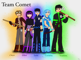 Team Comet Reference (Redone) by SilverWingInk