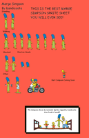 Marge Simpson Sprite Sheet 2 by bandicoota
