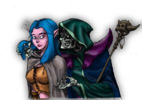 The Night Elf and the Undead (colorized) by Beb156