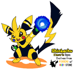 Pikachu Split Evolution- Shinkachu by DubiousDerringer