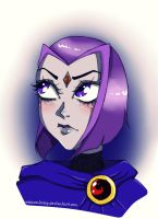 Raven Portrait by EmiCREEP