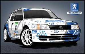 Peugeot 205 Maxi Rallycar by nokdesigns