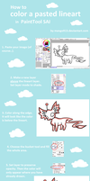 Tutorial - color pasted lineart in SAI by framtiden