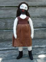 Bearded Lady plush doll by silentorchid