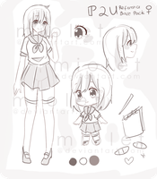 P2U: 70p Character Reference Base by miolet