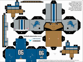 Ndamukong Suh Lions Cubee by etchings13