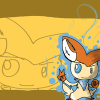 Victini Desktop by gdwDOG-wolf99