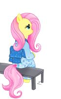 Commission: Kimono Fluttershy by lucky-lotto
