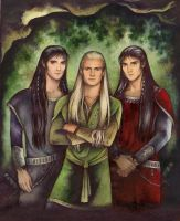 Legolas and Twins by ebe-kastein