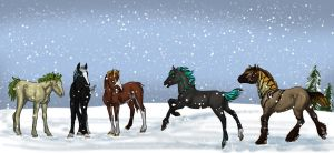 IVS Prize - More Snow Flake Foals by Okami-Haru