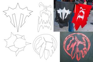 Iron Horde Clan Logos by VStewart