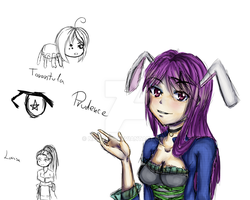 WIP Prudence and some sketches by nadine20