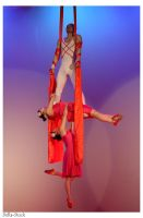 Chinese Acrobat Dancers by Della-Stock