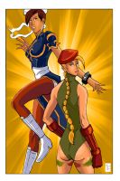 Cammy and Chun-Li by wburton19