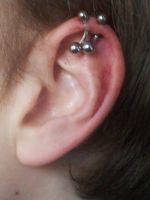 My earpiercing by 666Dennis666