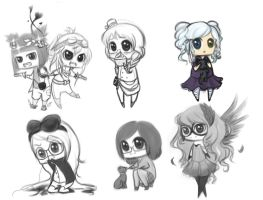 Chibi Compilation by Down-The-Stairs