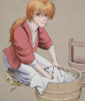 Kenshin Doing Laundry by duck113