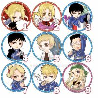 Full metal Alchemist button by siguredo