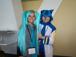 Mini Kaito and Mini Miku by MaiDair