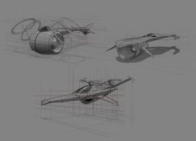 Basic Spacecraft designs by EdgarGomezArt
