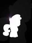 Sweetie Belle Silhouette by flamevulture17