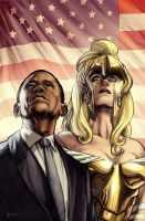 Athena and Obama by Maiolo