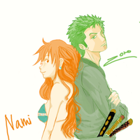 Nami and Zoro by Port-Iceburg
