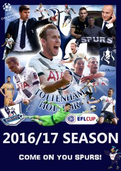 Tottenham Hotspur 2016-17 poster by Frosdee