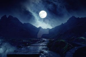 [Premade Background] Moonlight by Rowye