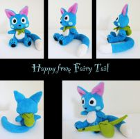 Fairy Tail: Happy plush by nfasel
