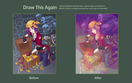 Draw This Again: Pirate's gold by karookaroo
