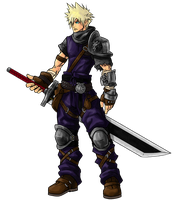 Medieval Cloud Strife by kenji893
