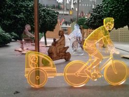 Laser cut cyclists by KamratFrida