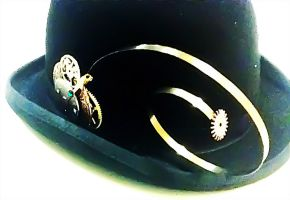 Steampunk'ed Hat Piece Shot 2 by Deathsdoor-inc