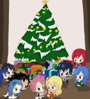 Fairy Tail Christmas 2013 by Vikkixox