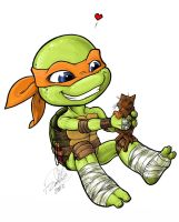 Michelangelo and Klunk by Bee-chan